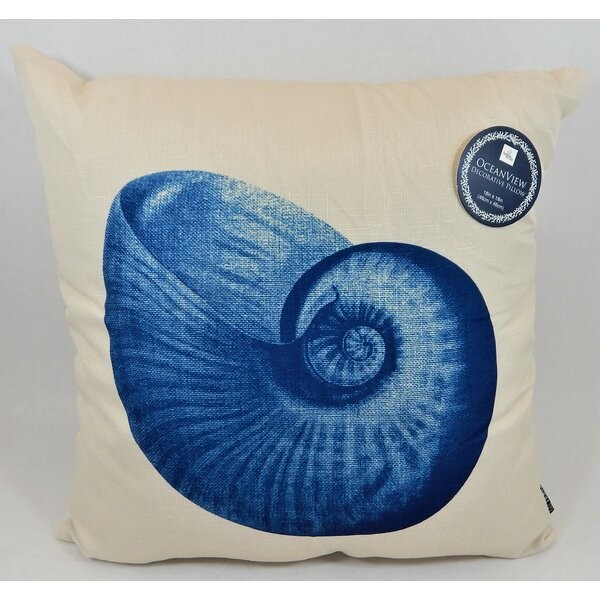 Salome Seashell Beauty Throw Pillow by Highland Dunes