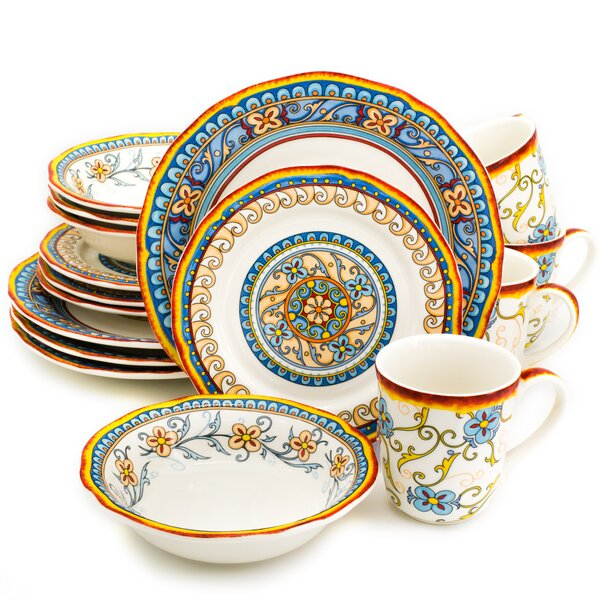 Duomo 16 Piece Dinnerware Set, Service for 4 by Euro Ceramica