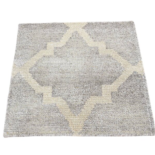 One-of-a-Kind Rorie Sample Hand-Knotted Gray Area Rug by Bungalow Rose