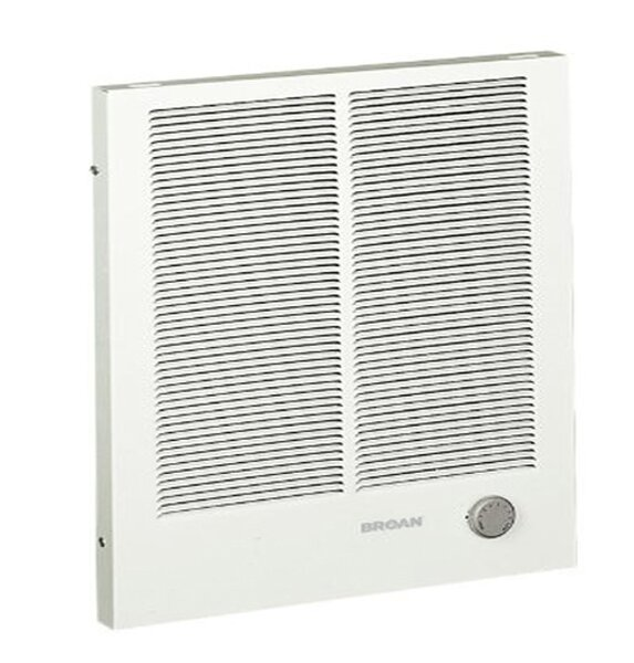 Wall Insert Electric Fan Heater with Adjustable Thermostat by Broan
