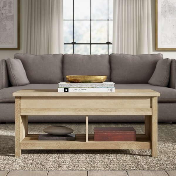 Top Reviews Tilden Lift Top Coffee Table with Storage by Greyleigh