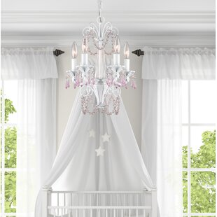 Deals Gilligan 5-Light Candle Style Chandelier By Viv + Rae