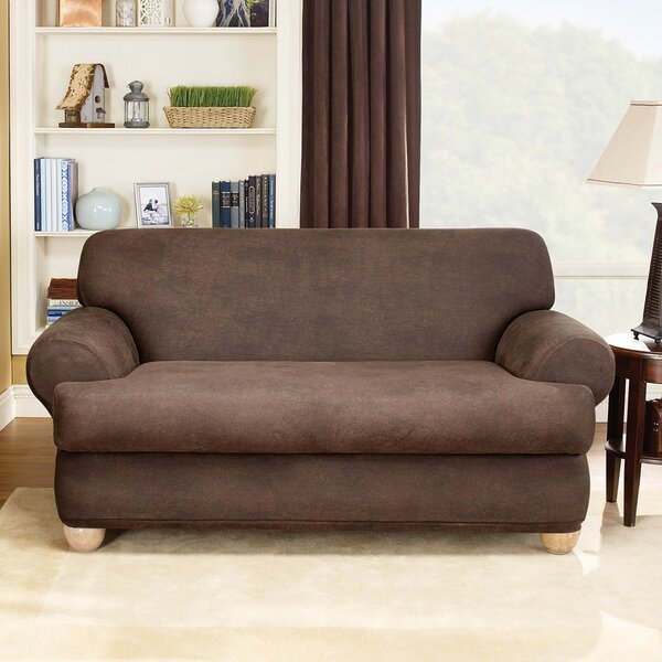 Stretch Leather T-Cushion Loveseat Slipcover by Sure Fit