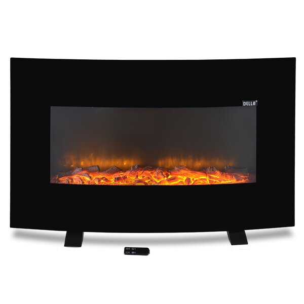 Adjustable Wall Mounted Electric Fireplace by Della