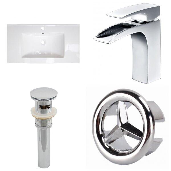 Latshaw 32 Single Bathroom Vanity Top and Overflow Drain by Alcott Hill