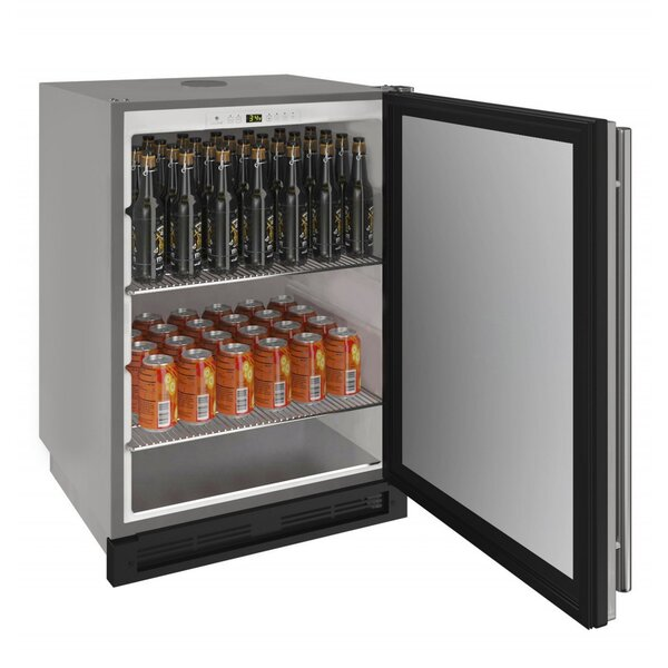1 cu. ft. 1000 Series Outdoor Solid Reversible Hinge Stainless Full Size Kegerator by U-Line