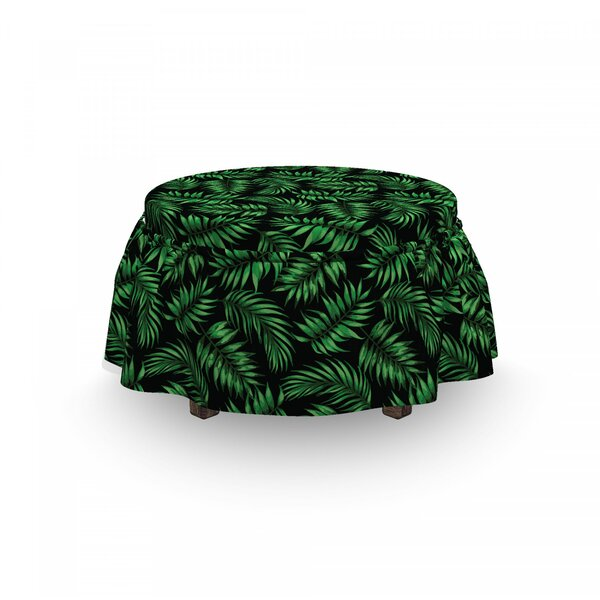 Exotic Jungle Leaves Art Ottoman Slipcover (Set Of 2) By East Urban Home