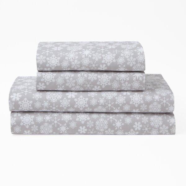 Snowfall Polyester Sheet Set by The Holiday Aisle