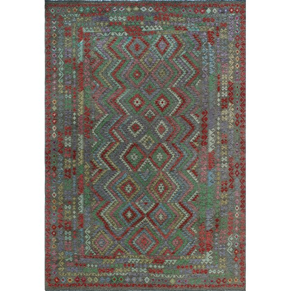 One-of-a-Kind Renita Kilim Hand-woven Wool Blue/Red Area Rug by Isabelline