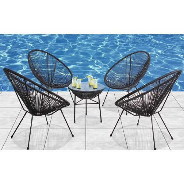 Meehan 5 Piece Rattan Multiple Chairs Seating Group by Bungalow Rose