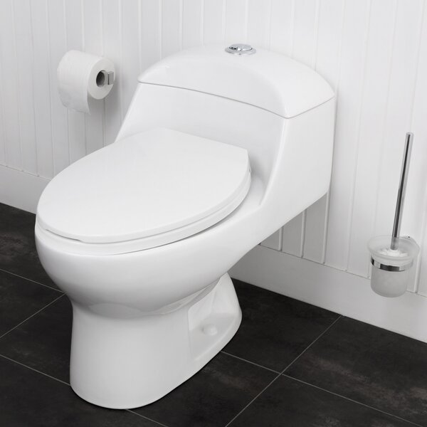 Caspian Siphonic Jets Dual Flush Elongated One-Piece Toilet by Maykke