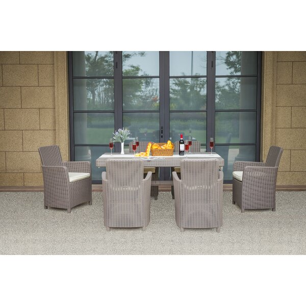 Wildhollow 7 Piece Dining Set with Cushions by Latitude Run