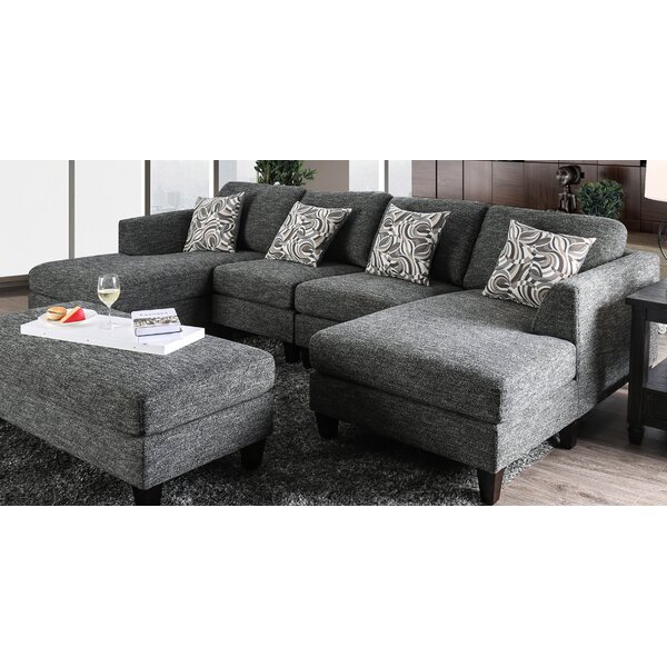 Digregorio Modular Sectional with Ottoman by Ebern Designs