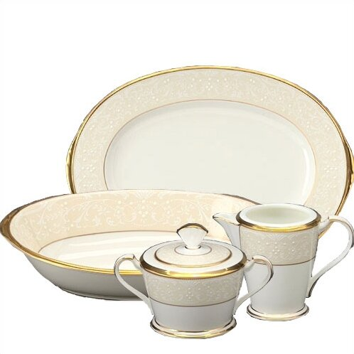 White Palace 5 Piece Completer Set by Noritake