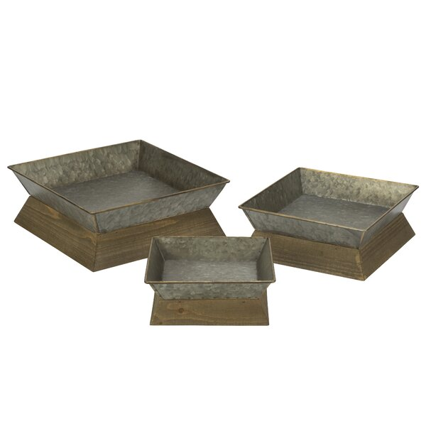 Apsel 3 Piece Serving Tray Set by Gracie Oaks