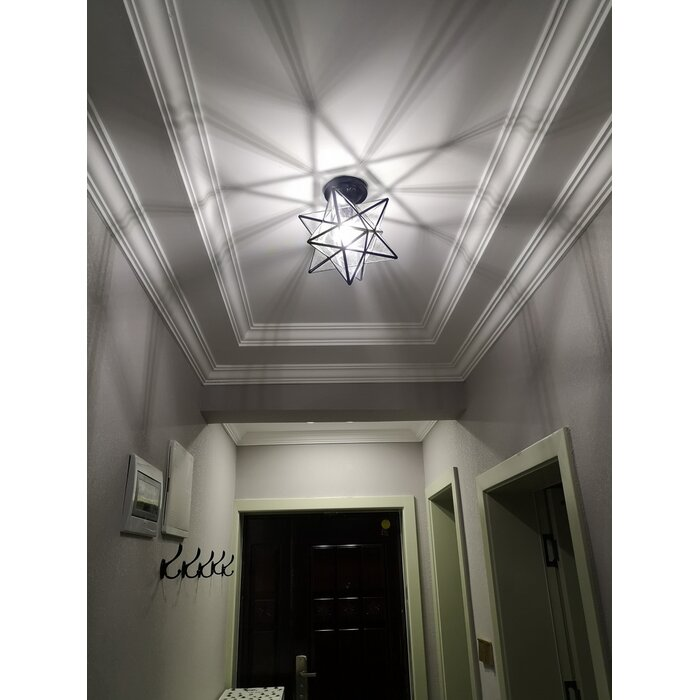 Holleman 1 Light Semi Flush Mount