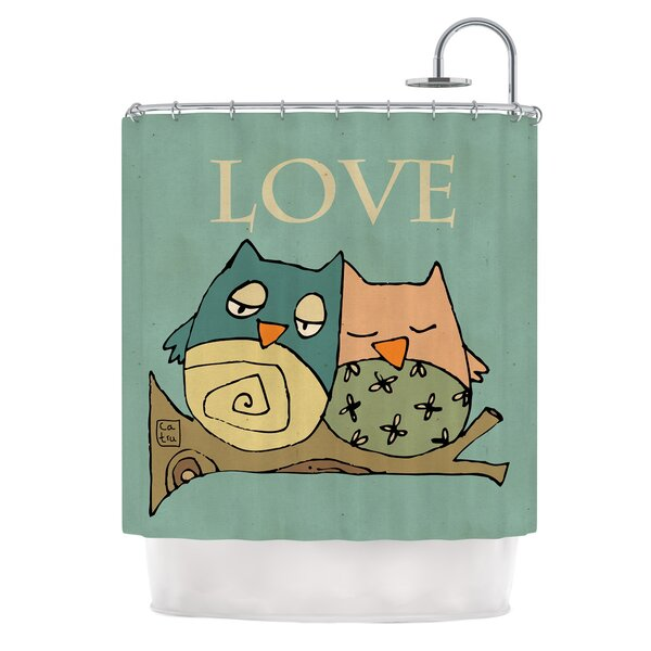 Lechuzas Love by Carina Povarchik Owls Shower Curtain by East Urban Home