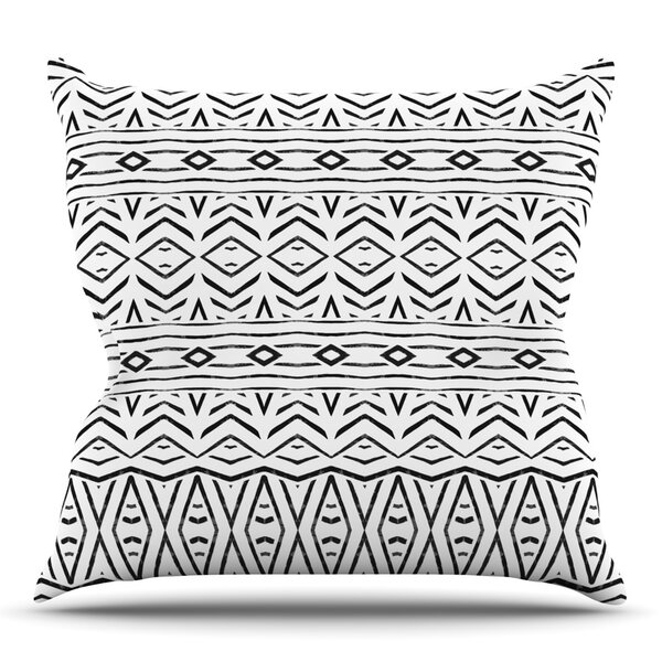 Tambourine by Pom Graphic Design Outdoor Throw Pillow by East Urban Home