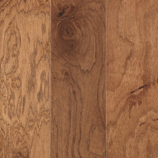La Grotta 5 Engineered Hickory Hardwood Flooring in Rustic Amber by Mohawk Flooring