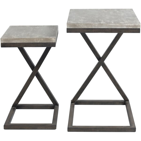 Check Price Kiara 2 Piece Nesting Tables