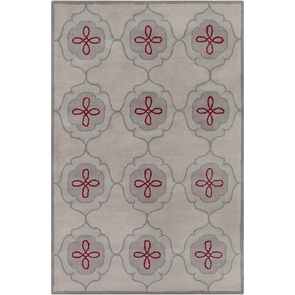 Willow Hand Tufted Wool Beige/Gray Area Rug by Red Barrel Studio