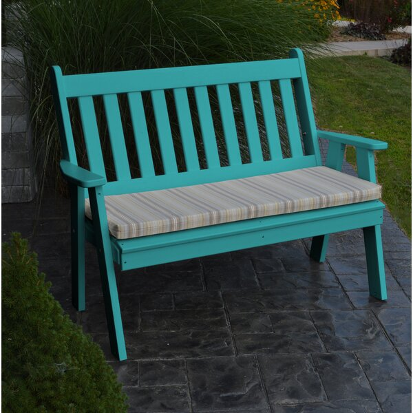 Hawkesbury Traditional Plastic Garden Bench by Highland Dunes