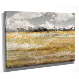 'Meadow Shimmer I' by Nan Painting Print on Wrapped Canvas by Wexford Home