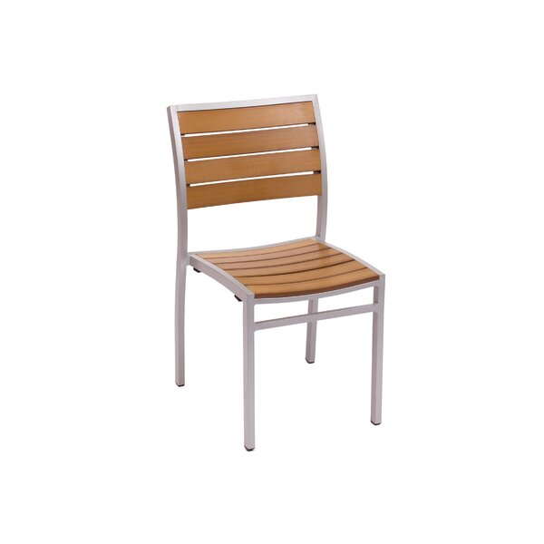 Largo Stacking Teak Patio Dining Chair by BFM Seating