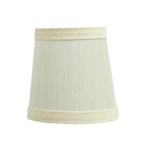 Clip On 4'' Fabric Empire Lamp Shade by Darby Home Co