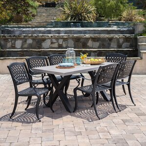 Stockholm Outdoor 7 Piece Dining Set by Red Barrel Studio