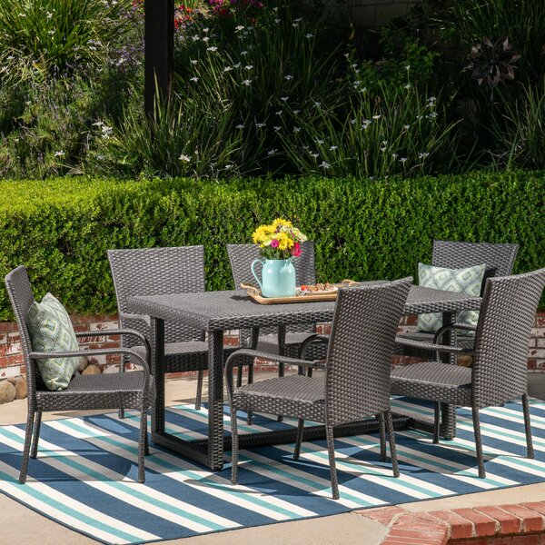 Leininger 7 Piece Dining Set by Charlton Home