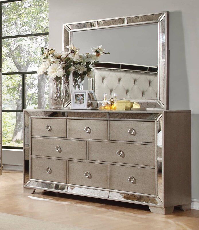 Marvelous Dowson 8 Drawer Dresser With Mirror