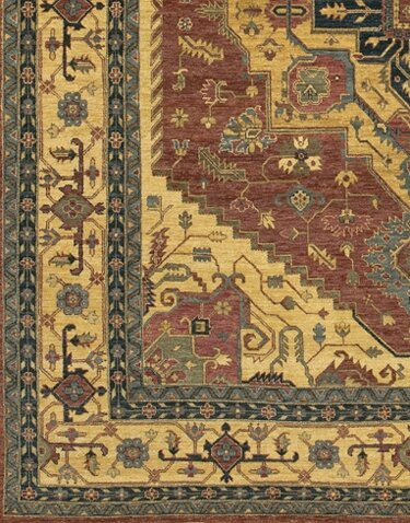 Zambrano Hand-Knotted Wool Red/Biege Area Rug