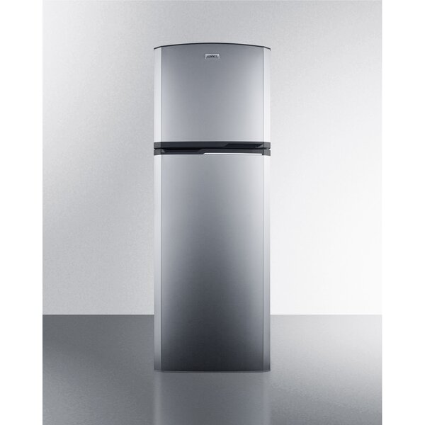Summit Thin-Line Frost-Free 8.8 Cu. Ft. Counter Depth Top Freezer Refrigerator with Icemaker by Summit Appliance
