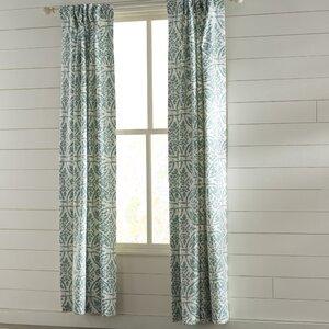 Olmo Nature/Floral Room Darkening Thermal Rod Pocket Single Curtain Panel