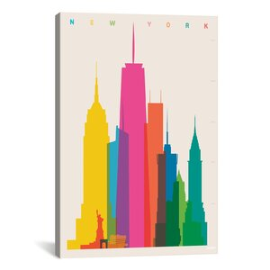 New York City by Yoni Alter Graphic Art on Wrapped Canvas by Brayden Studio
