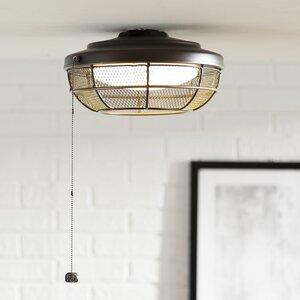 1-Light LED Bowl Ceiling Fan Light Kit