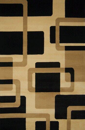 Edinburgh Brown/Black/Beige Area Rug by Latitude Run