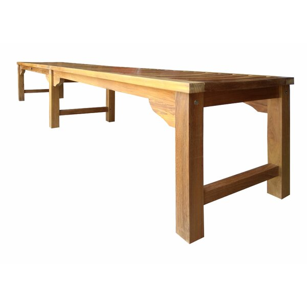 Ingrid Backless Teak Bench by Bay Isle Home