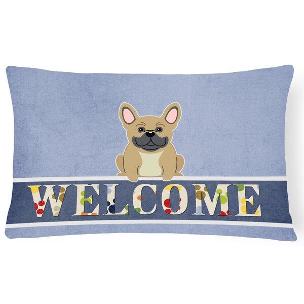 Harristown French Bulldog Welcome Lumbar Pillow by Red Barrel Studio