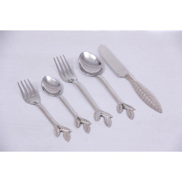 5 Piece Flatware Set by Oak Idea Imports