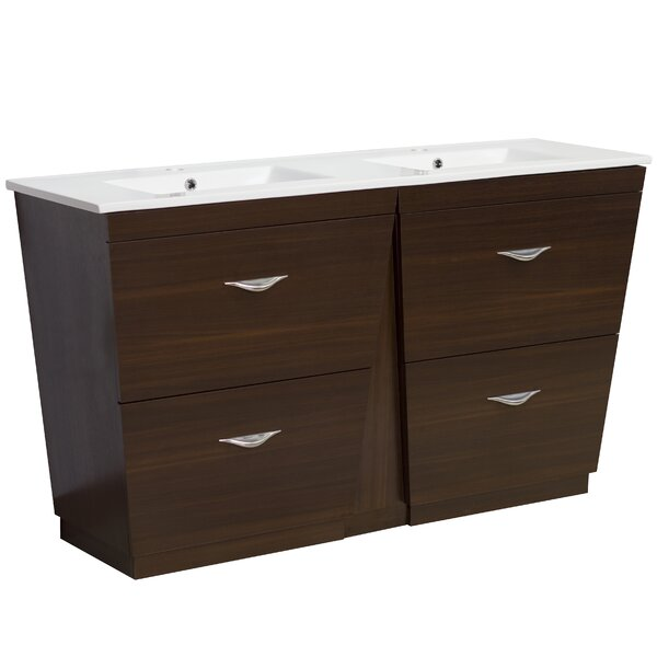 Kao Floor Mount 59 Double Bathroom Vanity Set by Royal Purple Bath Kitchen