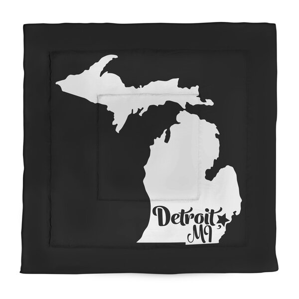 Detroit Michigan Single Reversible Comforter