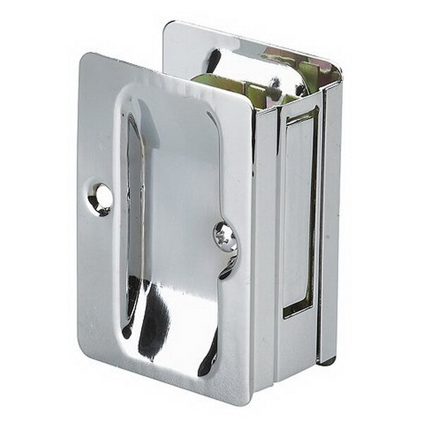 Rectangular Pocket Door Pull with Passage Lock by Richelieu
