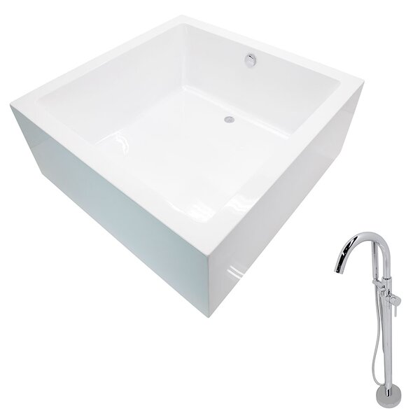 Apollo 55 x 55 Freestanding Soaking Bathtub by ANZZI