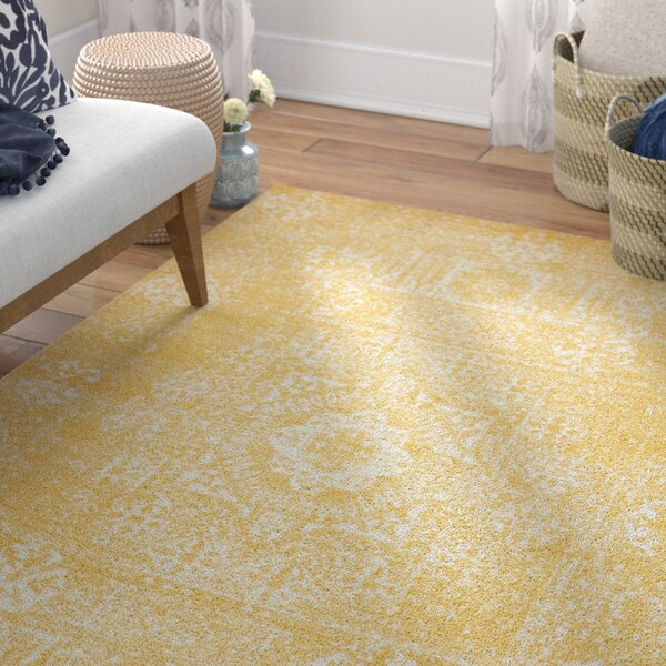 Delgado Yellow Area Rug by Mistana