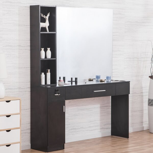 Shumake 2 Drawer Combo Dresser with Mirror by Symple Stuff
