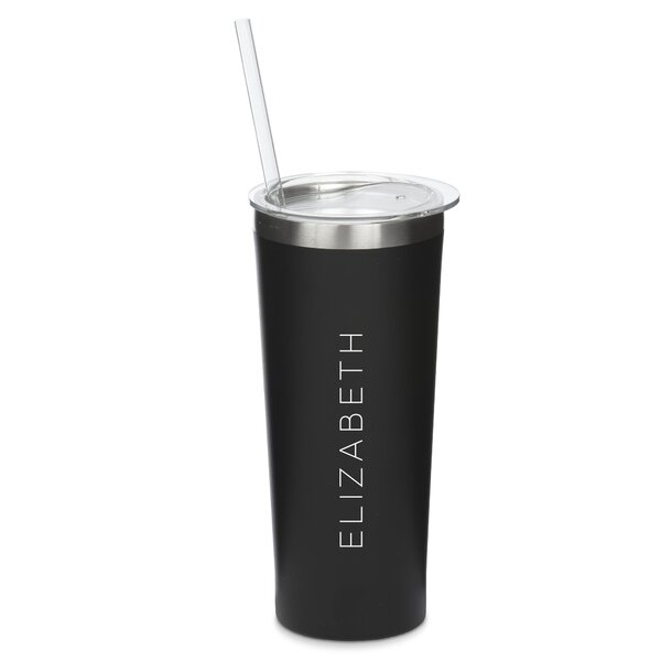 Staggers Personalized Vertical Line 22 oz. Stainless Steel Travel Tumbler by Ebern Designs