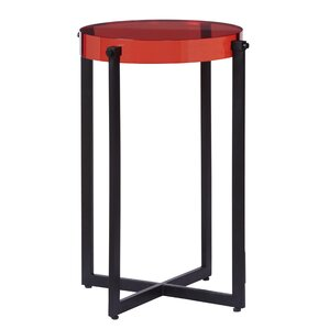 Chelsea Acrylic End Table by Latitude Run