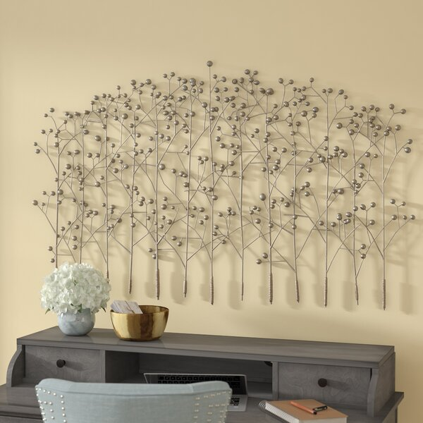 Antique Silver Trees Wall Décor by Red Barrel Studio